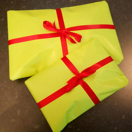 Gift wrapping parcels