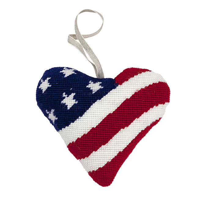 Stars and Stripes Lavender Heart