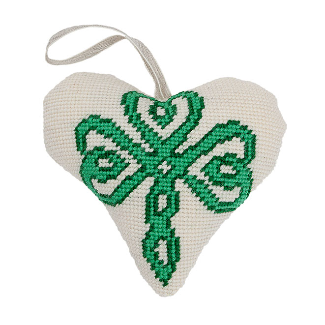 Celtic Shamrock Lavender Heart