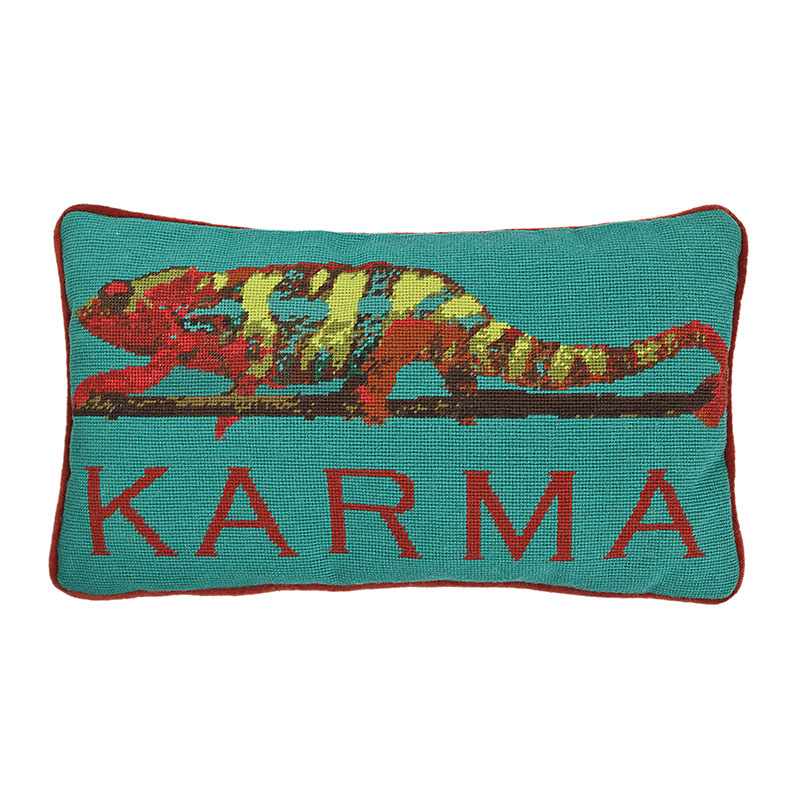 Karma Chameleon Cushion