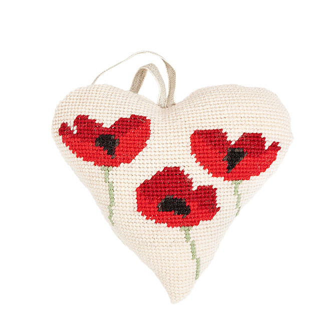 Poppies Lavender Heart