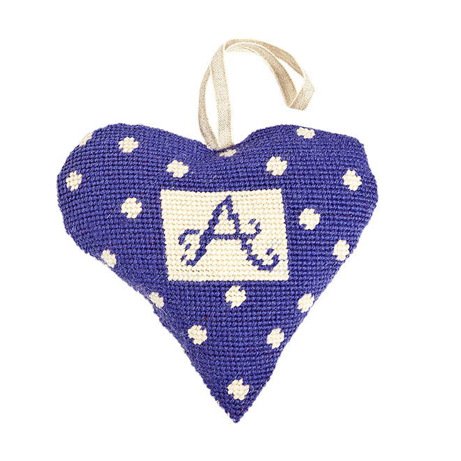 Purple Alphabet Lavender Heart