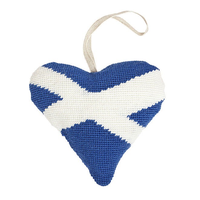Scottish Saltire Lavender Heart