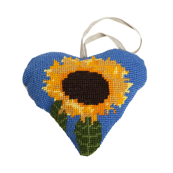Sunflower Lavender Heart