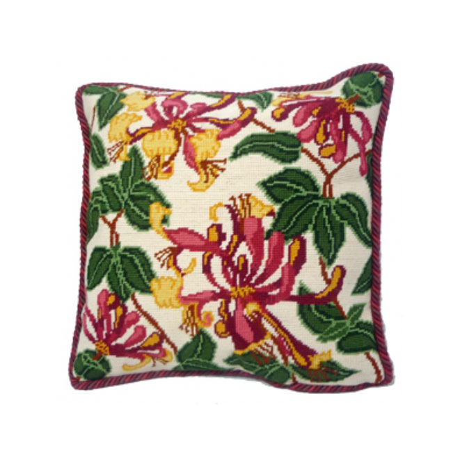 Pink Honeysuckle 14 inch Counted Cushion