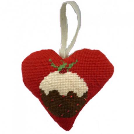 Christmas Pudding Heart
