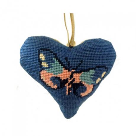 Butterfly Blue Lavender Heart