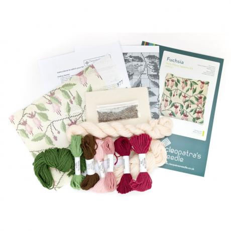Fuchsia Herb Pillow - kit contents