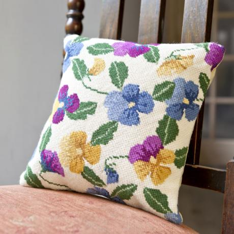 Pansy Garden Herb Pillow - lifestyle image