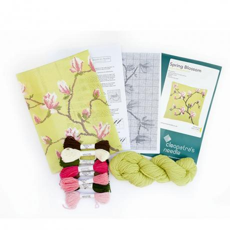 Spring Blossom 12 inch Cushion kit contents