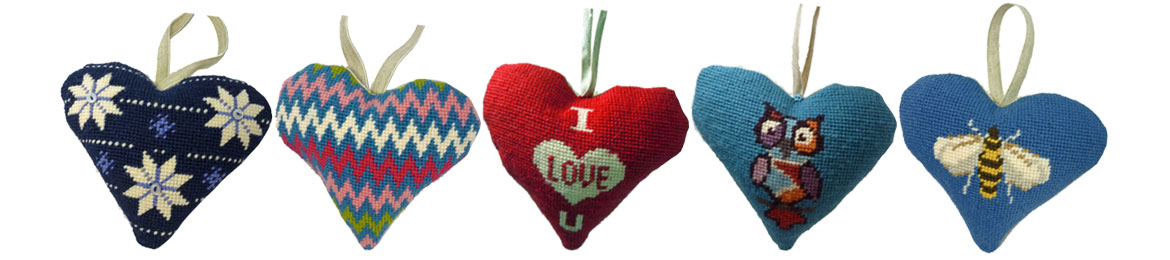 Lavender Hearts Tapestry Kits