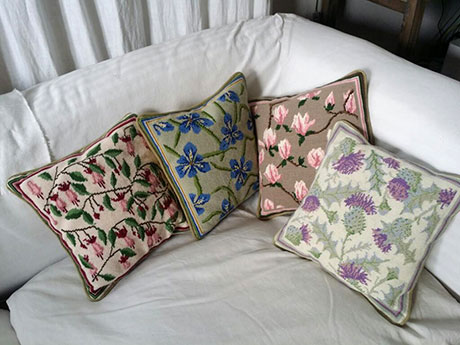 Margaret Leyland - 4 Herb Pillow Cushions