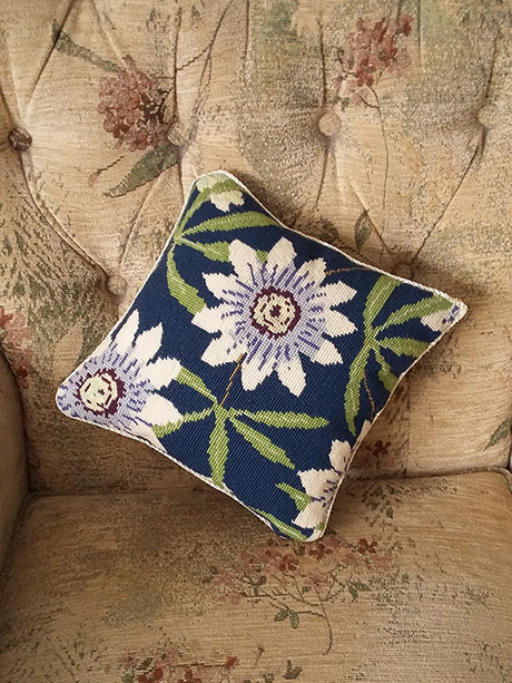 Janet Daws - Passion Flower Cushion