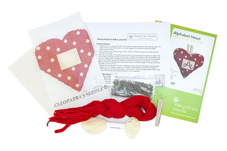 Alphabet Lavender Heart Needlecraft Kit