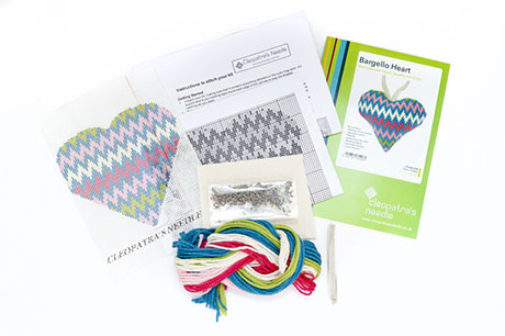 Bargello Lavender Heart Needlecraft Kit