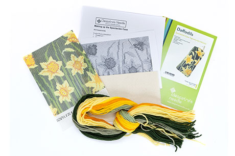 Dark Daffodils Spectacle Case Needlecraft Kit