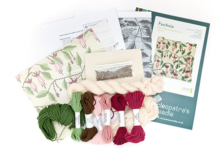 Fuchsia Herb Pillow Needlecraft Kit