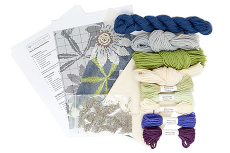 Passion Flower Herb Pillow Needlecraft Kit