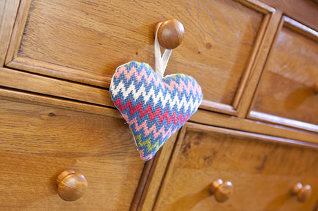 Bargello Lavender Heart
