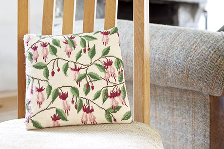 Fuchsia Herb Pillow
